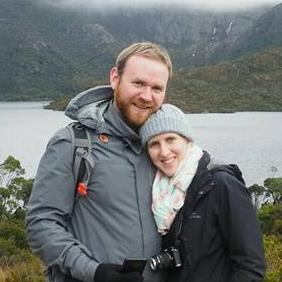 My wife and I enjoying our winter honeymoon at Cradle Mountain, TAS (2016)
